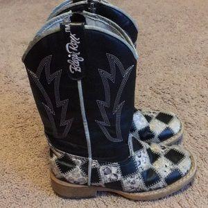 Blazin Roxx Shoes - Girls Blazin Roxx cowgirl boots-size 9.5 Toddler